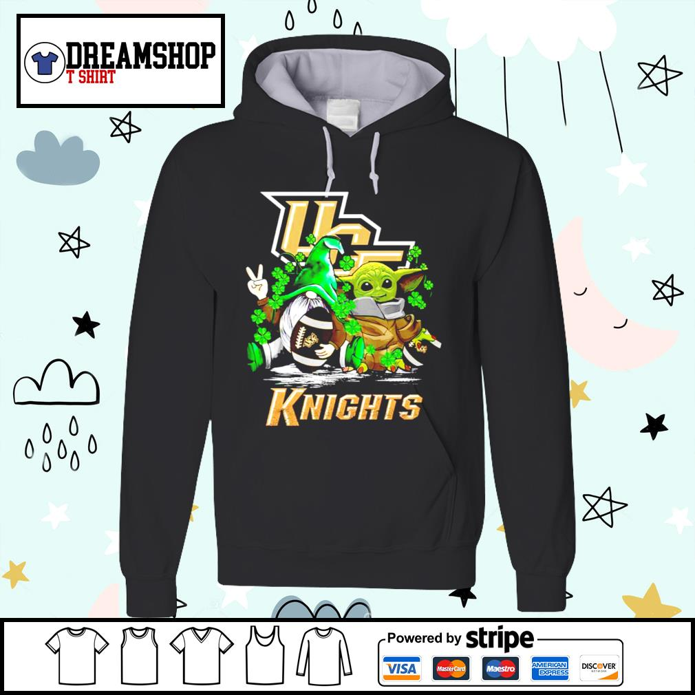 St.Patrick's day Gnome and Baby Yoda UCF Knights s hoodie