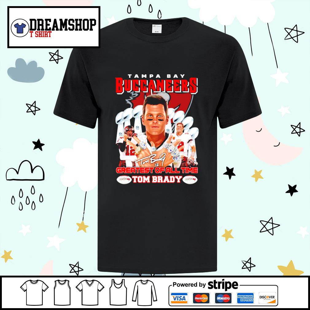 Tom Brady Tampa Bay Buccaneers Greatest of all time t-shirt