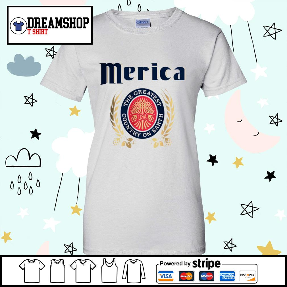 Merica the greatest country on earth s ladies-tee