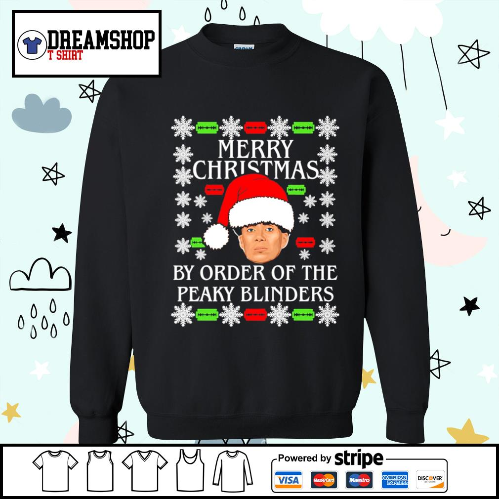 Merry Christmas by order of the Peaky Blinders ugly Christmas shirt, sweater sweater