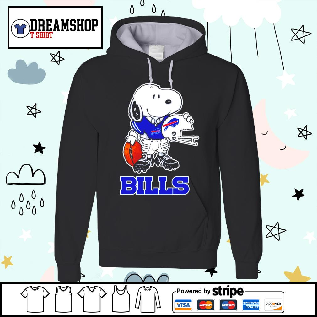 Snoopy a strong and proud Buffalo Bills player NFL s hoodie
