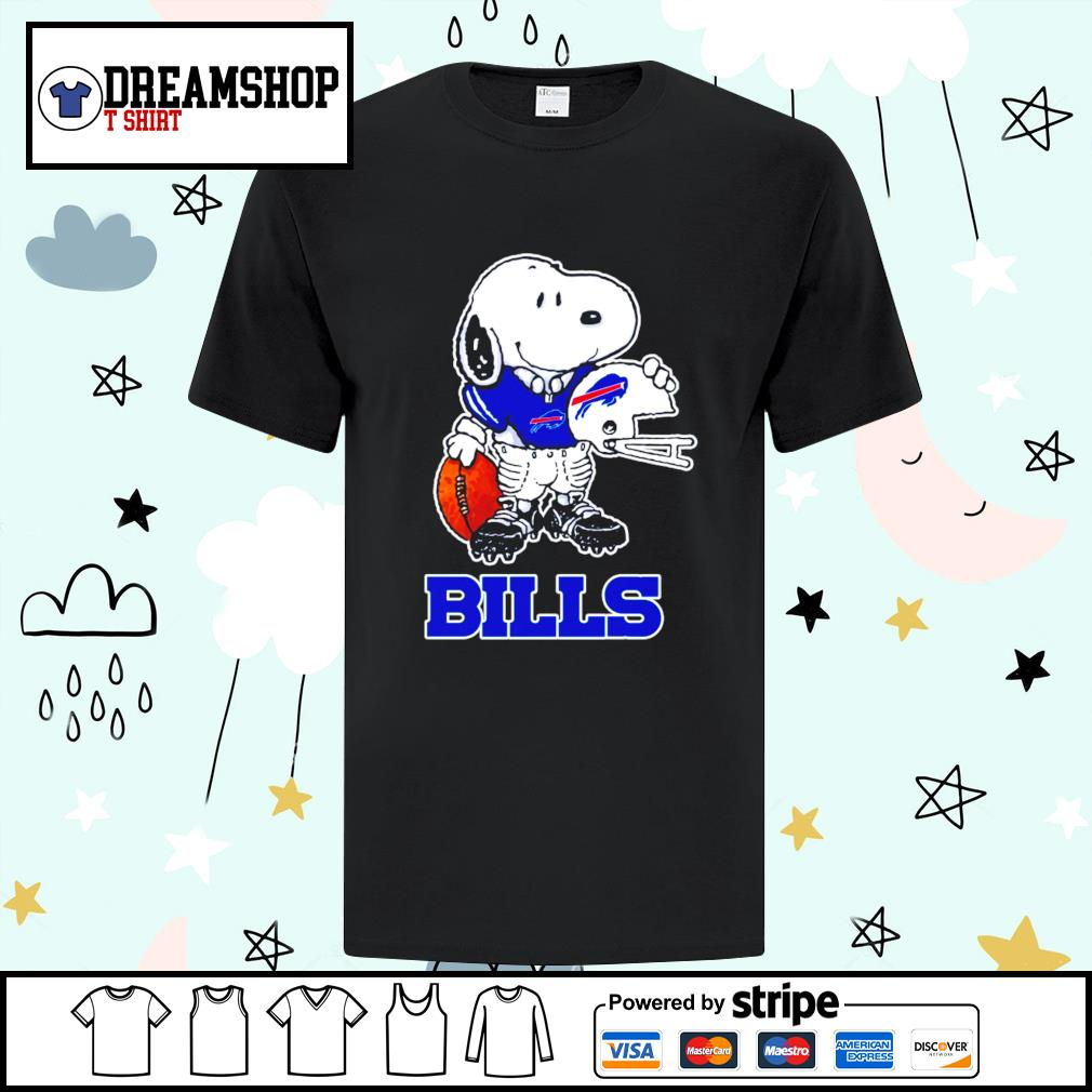 Snoopy a strong and proud Buffalo Bills player NFL shirt